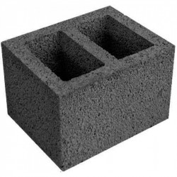 Вентеляционный керамзитобетоный блок 500х300х188 мм