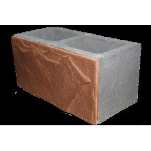Облицовочный полнотелый пеноблок D500 размером 100х250х600 мм