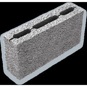 Стеновой пустотелый керамзитобетоный блок 390х120х188 мм прямой