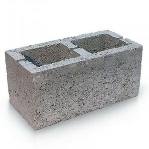 Вентеляционный пустотелый керамзитобетоный блок 200х200х400 мм прямой