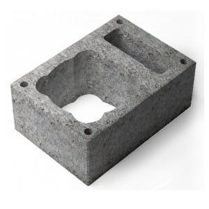 Вентеляционный пустотелый керамзитобетоный блок 390х190х188 мм прямой