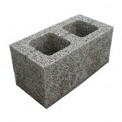 Стеновой керамзитобетоный блок 390х190х188 мм