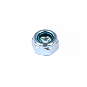 Гайка М6 белый цинк самоконтрящаяся Стройбат DIN 985