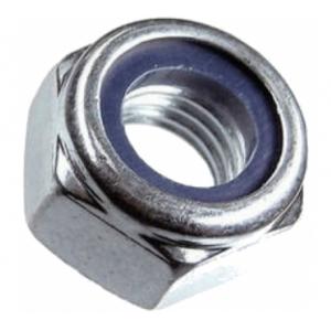 Гайка М20 с нейлоновым кольцом оцинкованная Зубр DIN 985