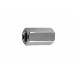 Гайка белый цинк соединительная М8 Бифаст 50 шт.
