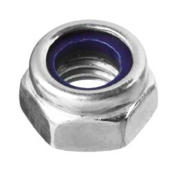 Гайка с нейлоновым кольцом оцинкованная М6 Зубр 5 кг