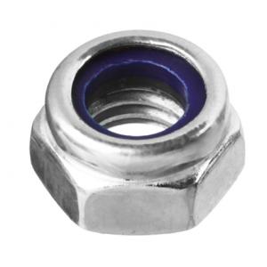 Гайка М6 с нейлоновым кольцом оцинкованная Зубр DIN 985