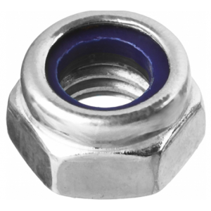 Гайка М10 с нейлоновым кольцом оцинкованная Зубр DIN 985