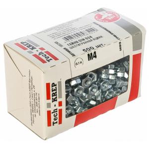 Гайка М4 оцинкованная шестигранная TECH-KREP DIN 934