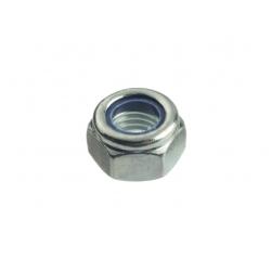 Гайка оцинкованная шестигранная со стопорным кольцом М12 Профикреп 25 шт.