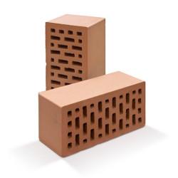 Керамический облицовочный полуторный кирпич ВВКЗ М-150 красный персик