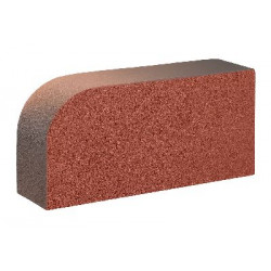 Керамический облицовочный полнотелый радиусный кирпич КС-Керамик Аренберг ручной формовки